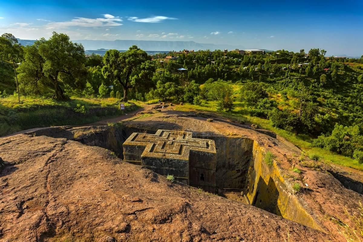 Monolithic Church Of Saint George, Lalibela, Ethiopia Shutterstock 565481380