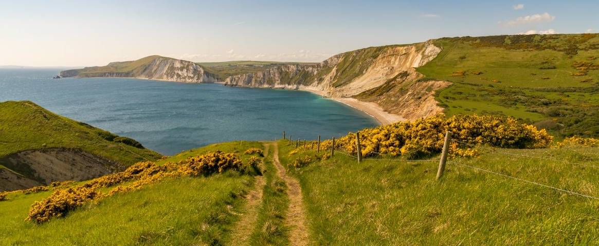 Worbarrow Bay on the Jurassic Coast in Dorset, UK