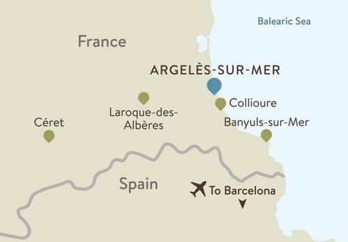 French Catalonia Itinerary Map
