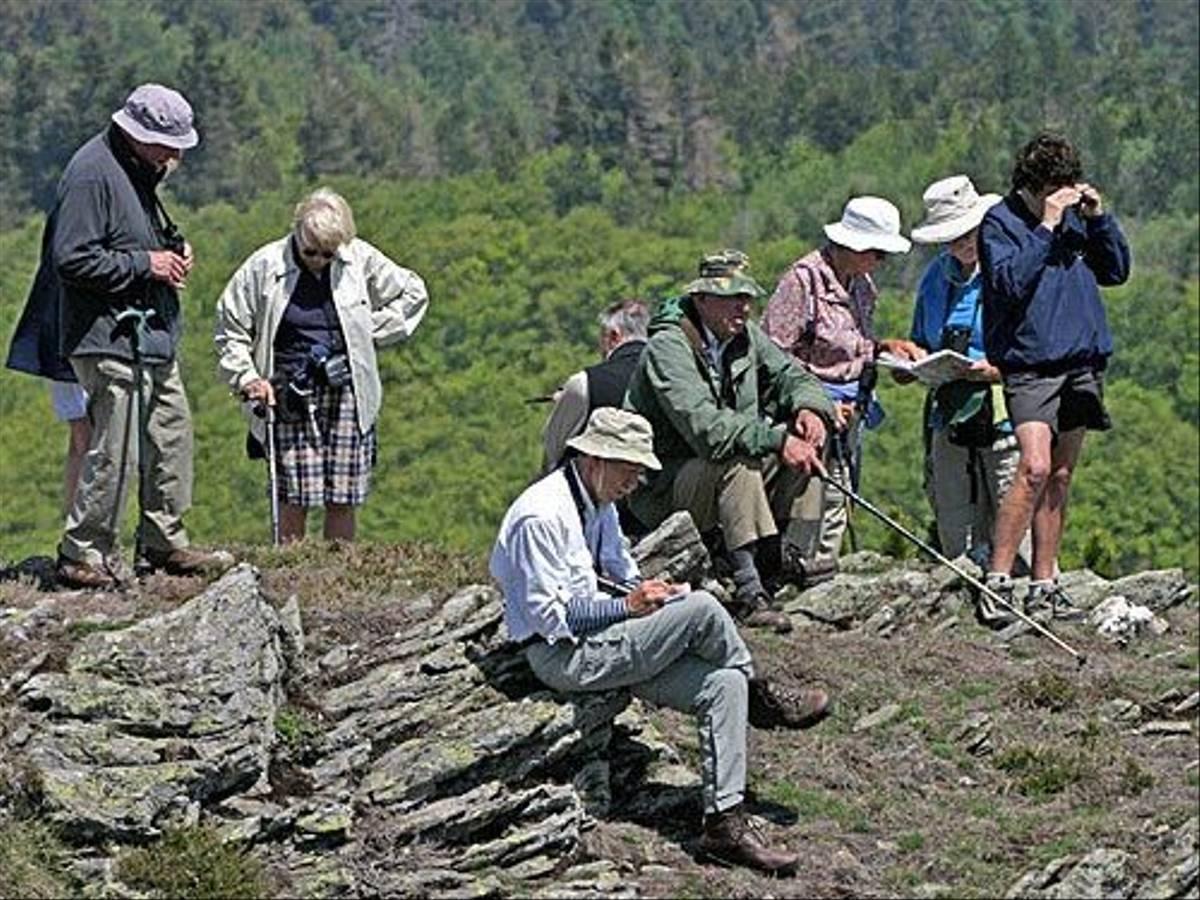 Naturetrek clients on Causse Noir (Peter Dunn)