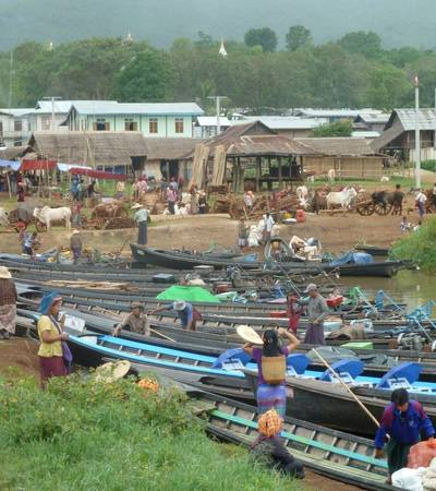 Five days market in Inle Lake