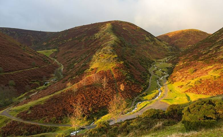 Sunrise at Teh Long Mynd