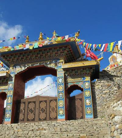 Buddhist monastery near Lho village