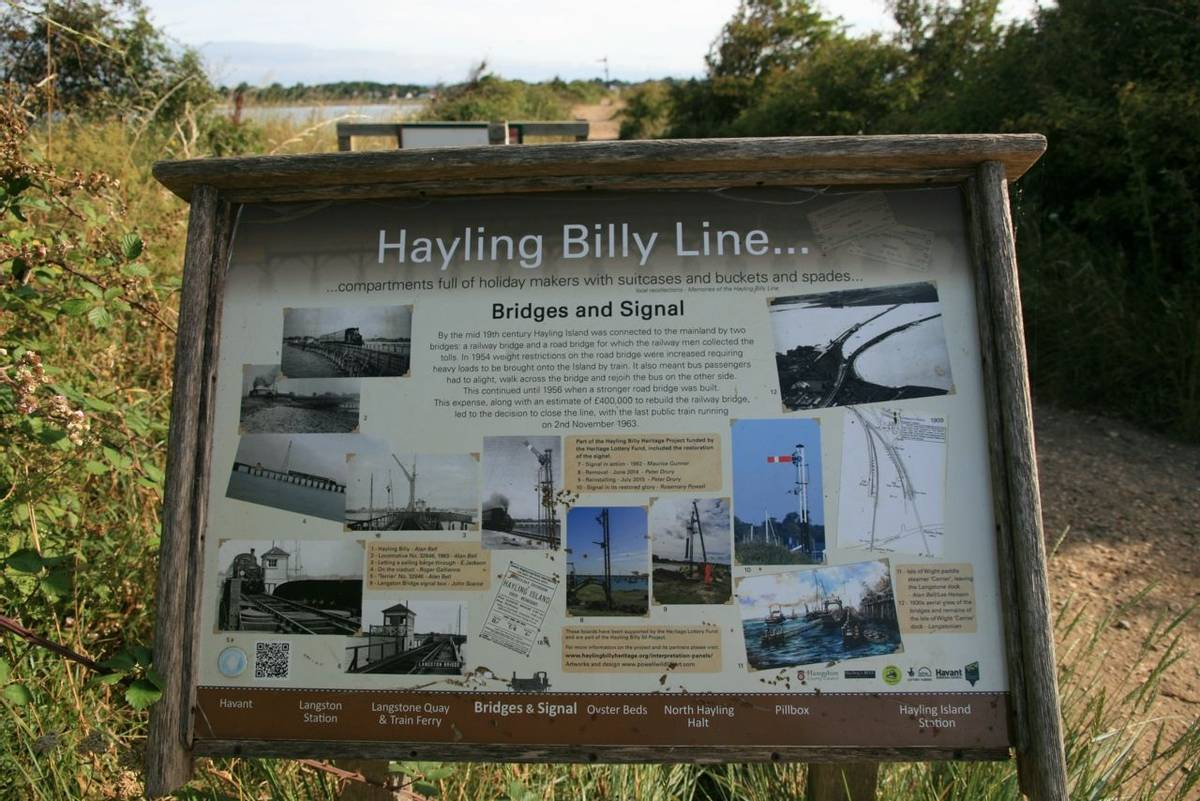 Hayling Bill Line Information Board.JPG