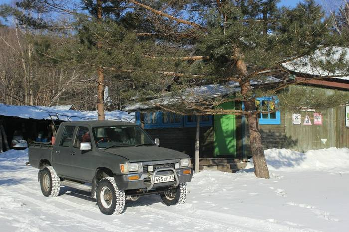 One Of The 4x4s Outside The Main Camp Building
