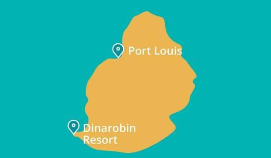 Dinarobin Resort Mauritius Map New