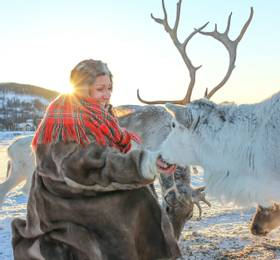 Polar Fjord Cruise and Reindeer Camp Dinner with Northern Lights Watch