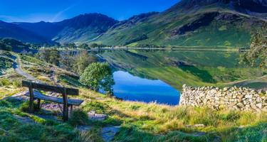 Mountains reflected in the still waters of the English Lake District