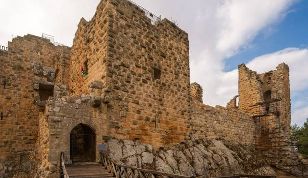 The ayyubid castle of Ajloun in northern Jordan, built in the 12th century.