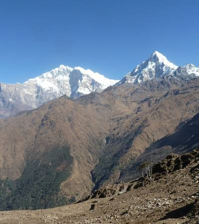 Fang and Annapurna South from Kopra lodge (3,660m)