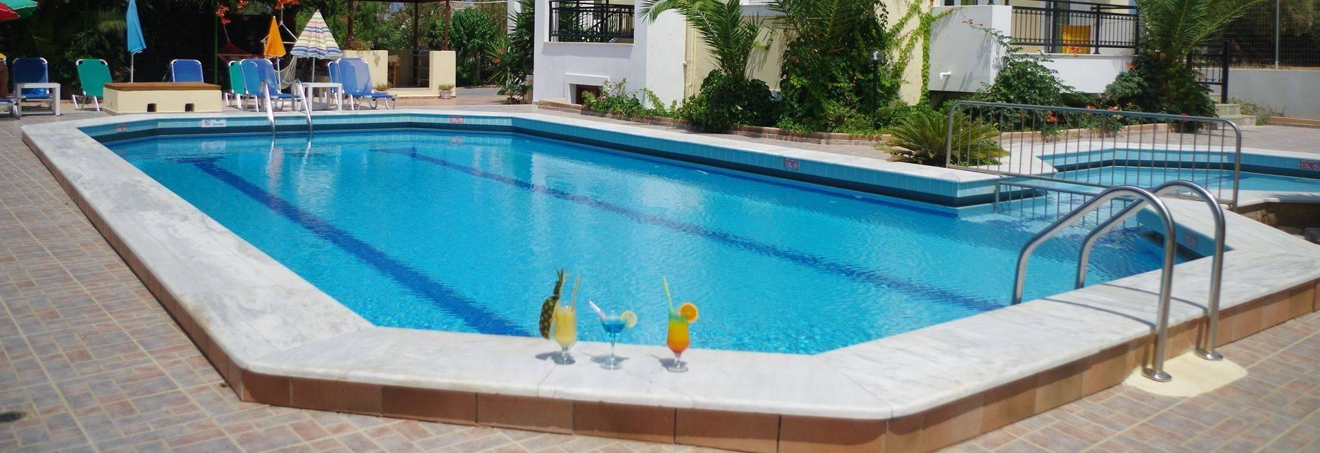 Iraklis Apartments in the resort Gouves, Crete. Greece