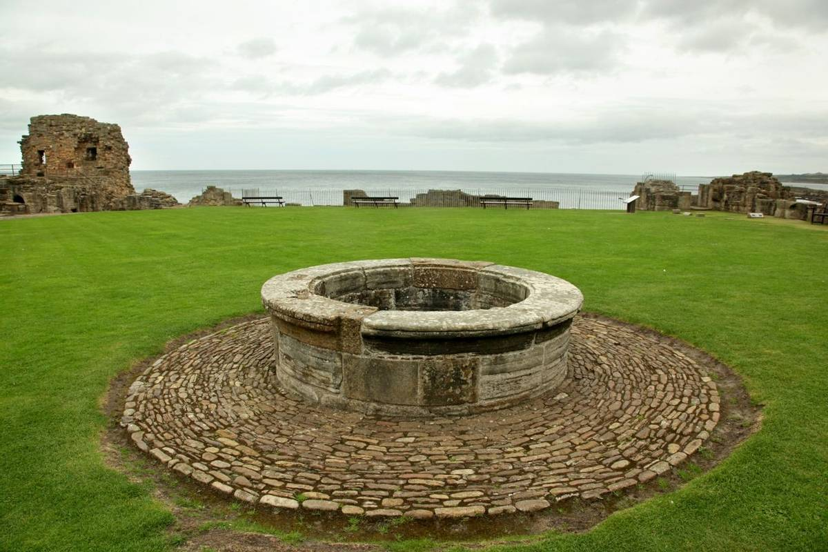 St Andrews Castle Ruins Medieval Landmark. Fife, Scotland