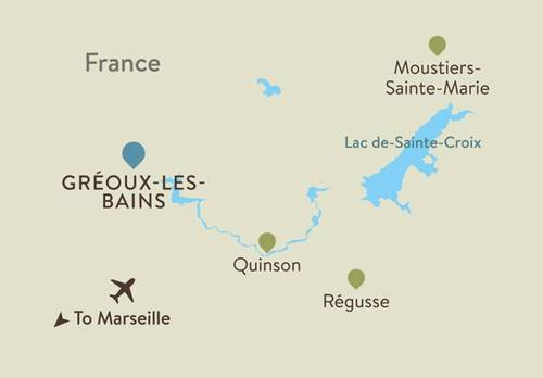 Provence Itinerary Map