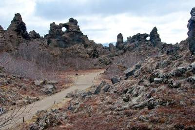 Lava formations at Dimmuborgir by Alan Bevis