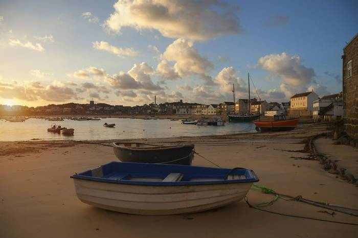 St Mary's Harbour at dawn, St Mary's, Isles of Scilly