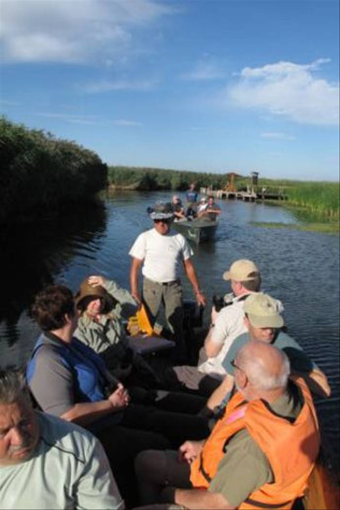 Naturetrek clients enjoying a boat trip in the Black Valley (Sandor)