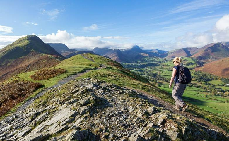 Walking Up Cat Bells in Cumbria, UK
