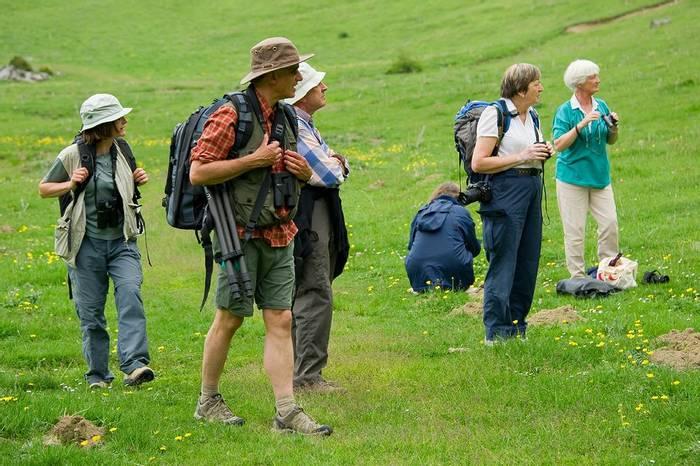 Naturetrek Clients in Lizara (Sergio Padura)