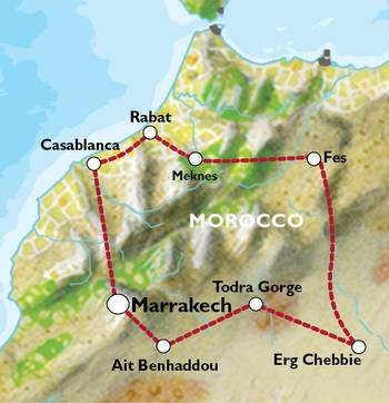 MARRAKECH to MARRAKECH (9 days) Moroccan Highlights