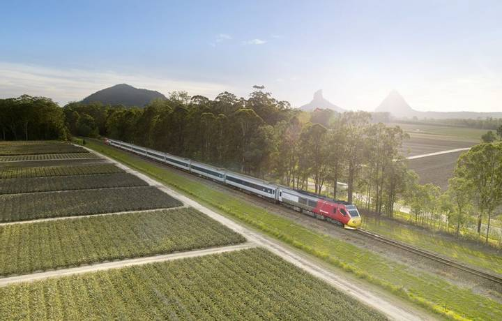 Glass House Mountains Aerial View - Spirit of Queensland