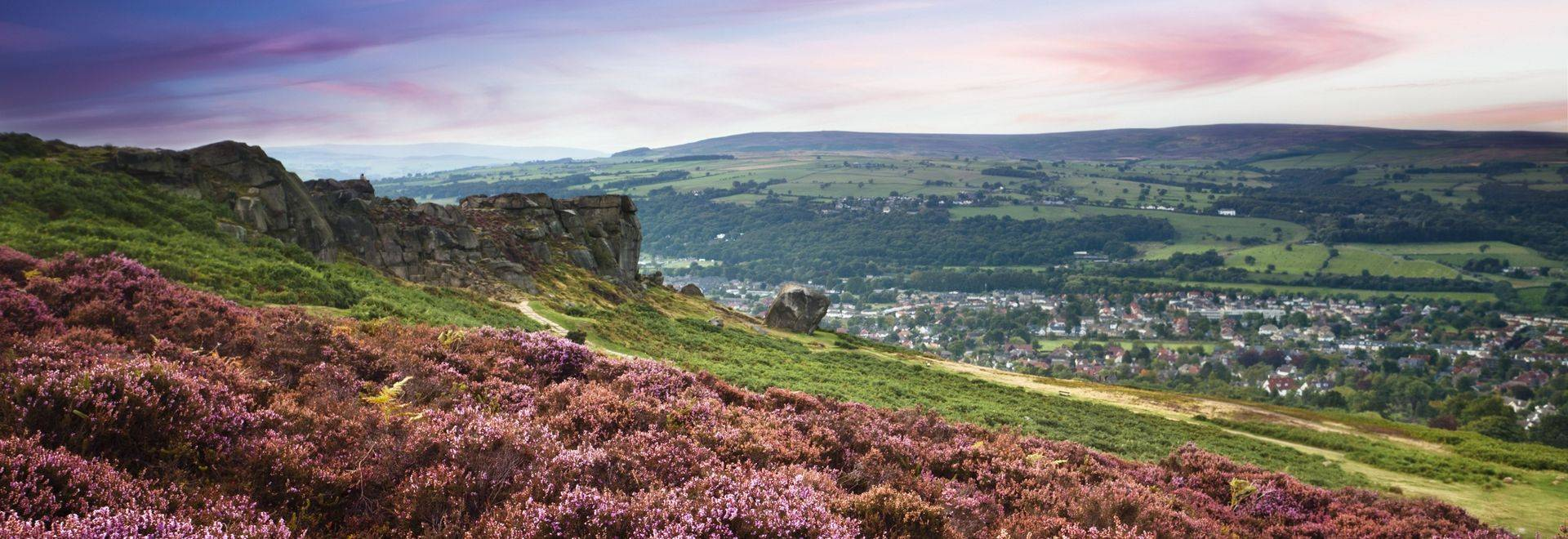 A wonderful evening over Ilkley