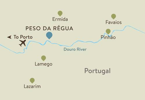 Douro Itinerary Map