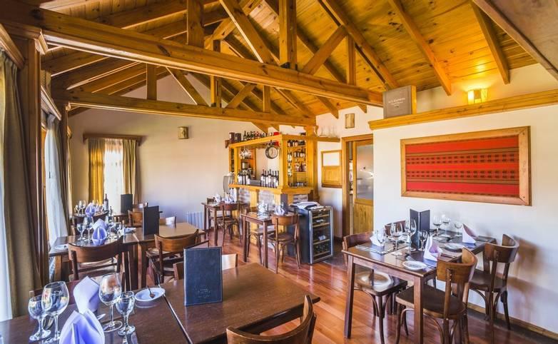 Patagonia -Restaurant at Inn Hosteria Senderos, El Chalten, Santa Cruz Province, Argentinian  Argentina.JPG