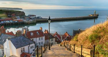 The 199 Steps at Whitby on the North Yorkshire coastline