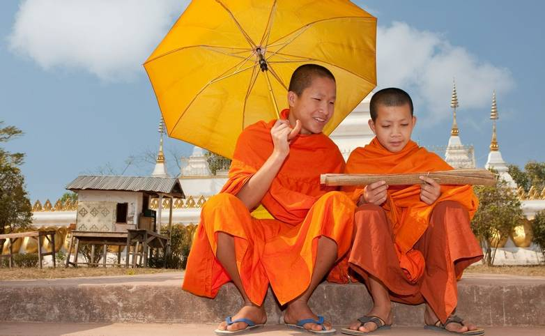Buddhistische Mönche Asien