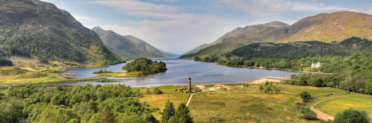 Glenfinnan Monument and Loch Shiel,Scotland