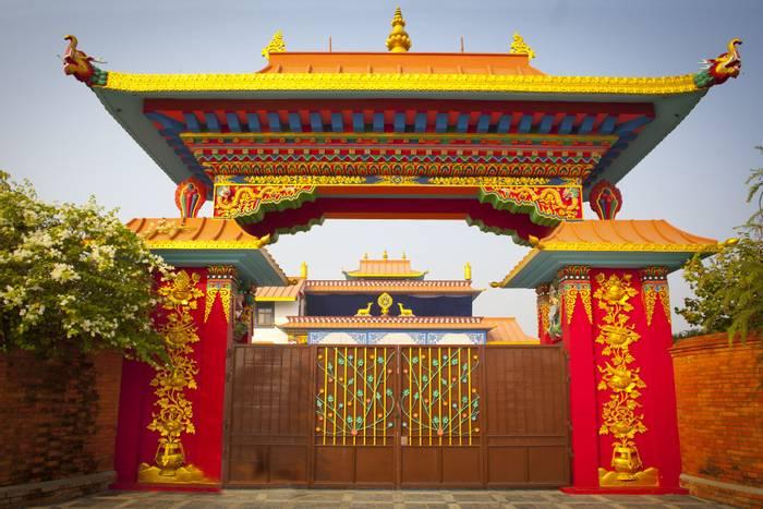 Temples in Lumbini, Nepal. shutterstock_169237250.jpg