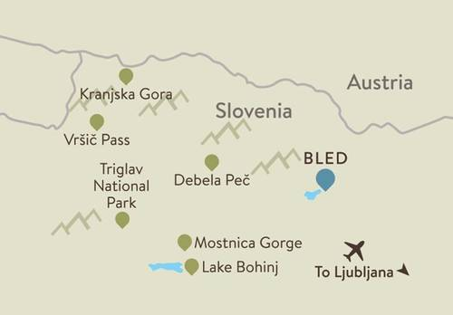 Lake Bled Itinerary Map