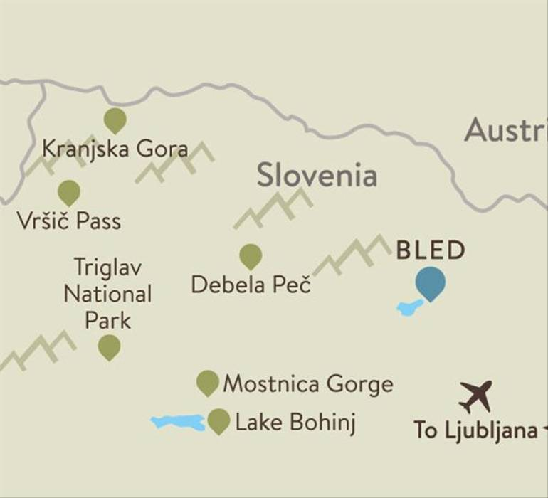 Lake Bled Itinerary Map