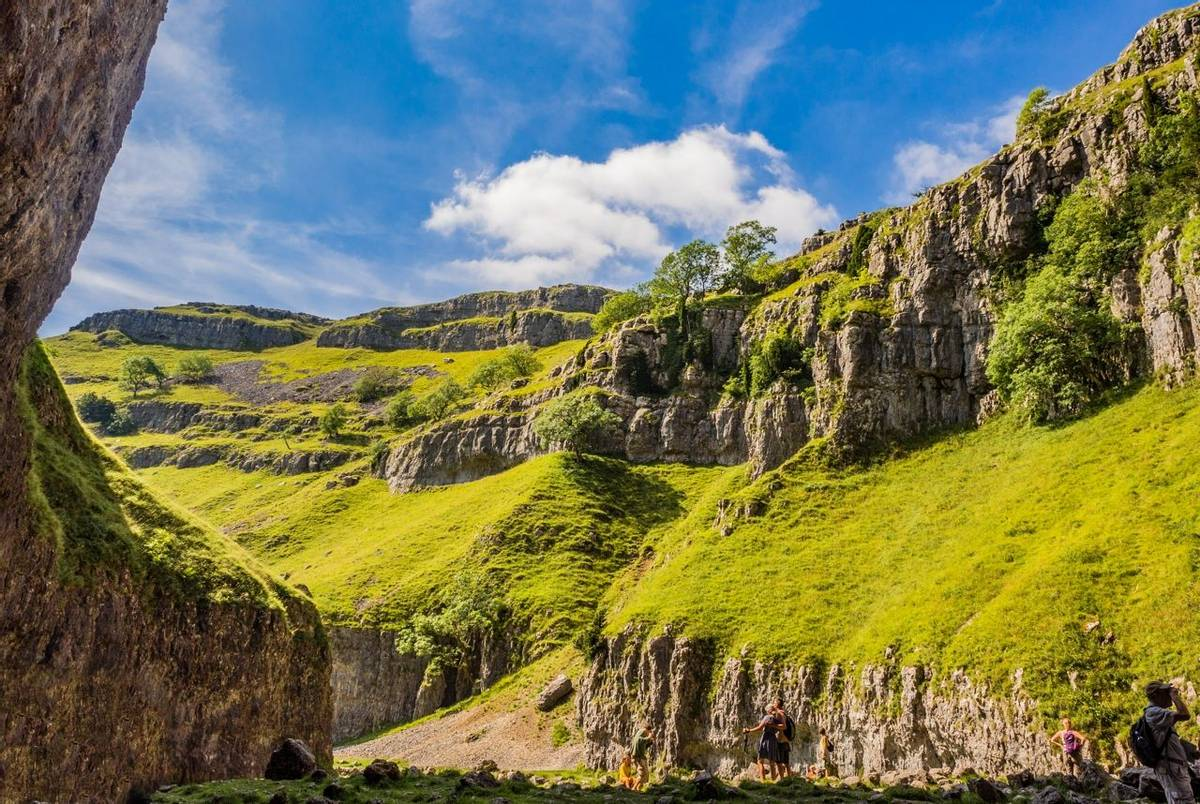 Amazing rock formations at Gordale Scar, Mallham, Yorkshire, UK