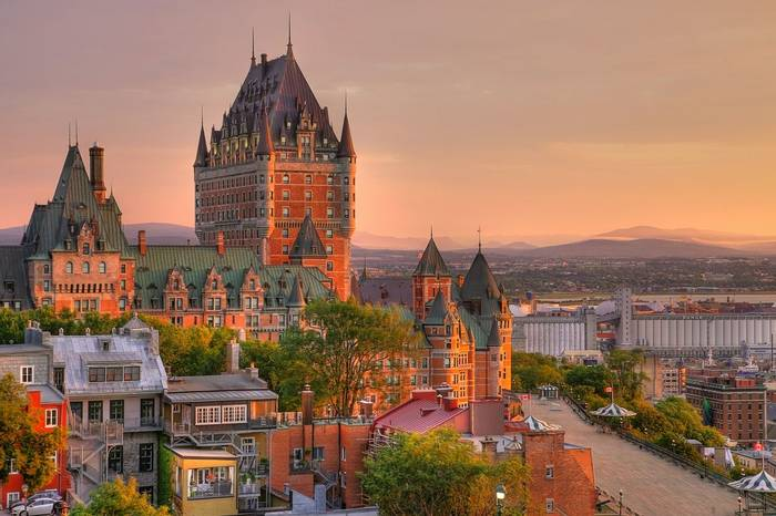 Frontenac Castle, Quebec, Canada Shutterstock 428039830