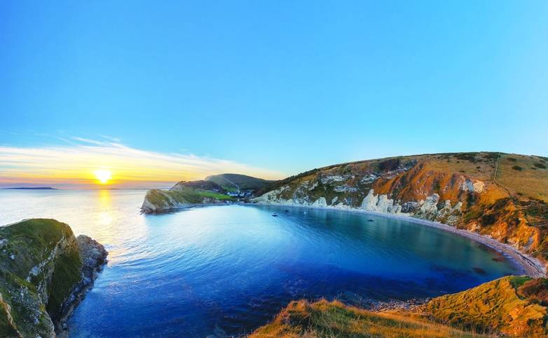 Lulworth Cove, Dorset at Sunset