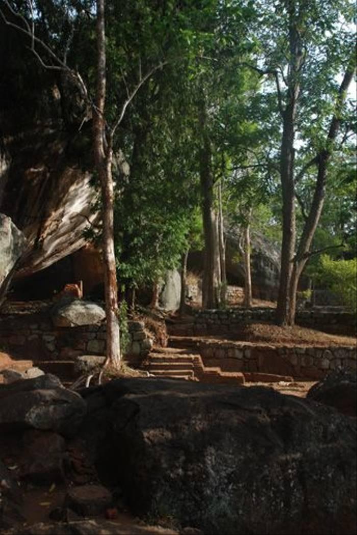 The start of the climb up Sigiriya rock (Thomas Mills)