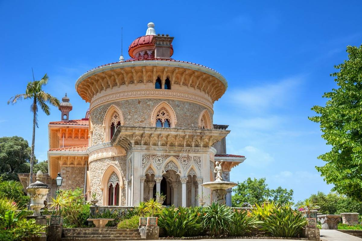 National museum of Palace of Monserrate - famous landmark in Sintra, Lisbon, Portugal, European travel