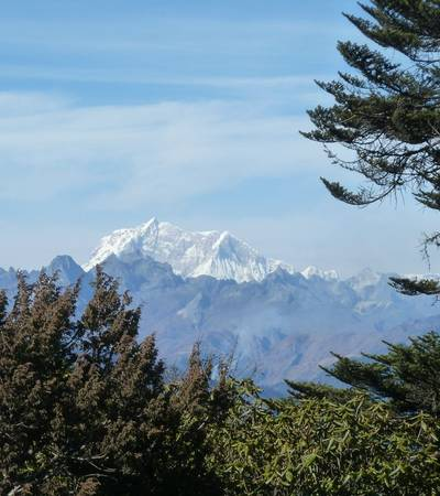 View of Mount Gangkar Punsum (7,570m)