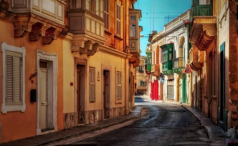 Victoria town on Maltese island Gozo.,