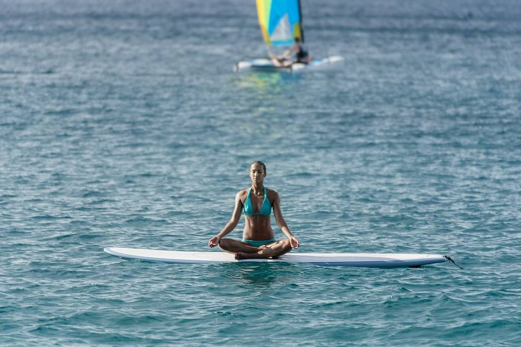 Paddle board yoga at the BodyHoliday
