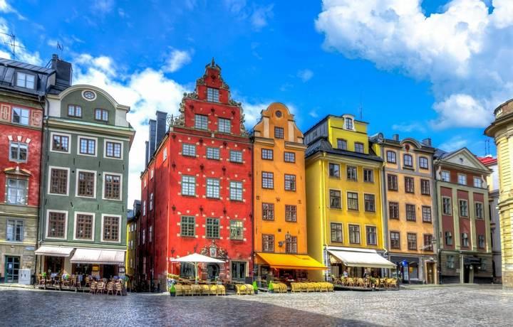 Stortorget square in Stockholm old town, Sweden