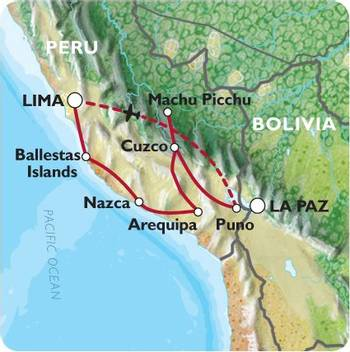 LIMA to LIMA (19 days) Peru Encompassed