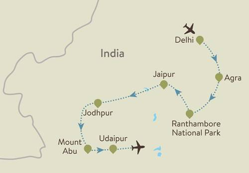 Itinerary Map Rajasthan