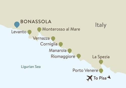 Bonassola Itinerary Map