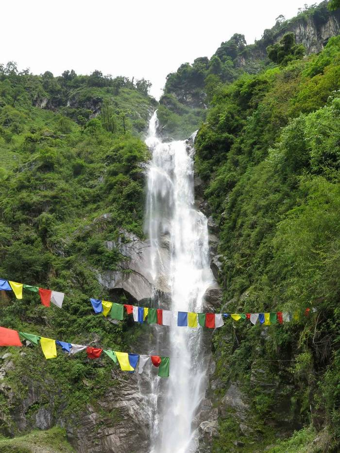 Waterfall with prayer flags.jpg