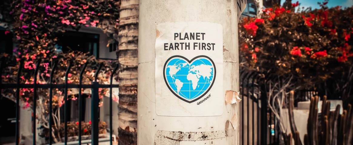 A Greenpeace Planet Earth First poster