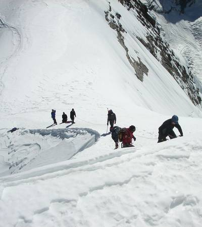 Final climb to Mera Peak summit