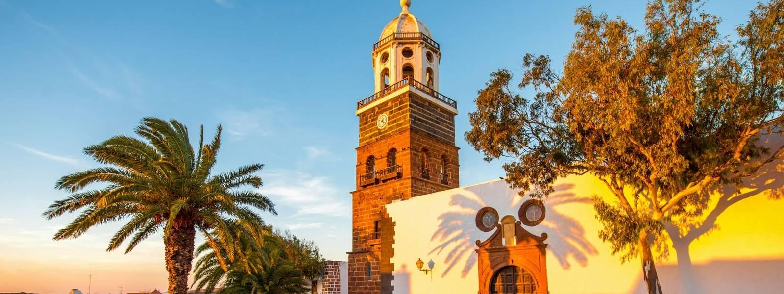 Teguise village on Lanzarote island