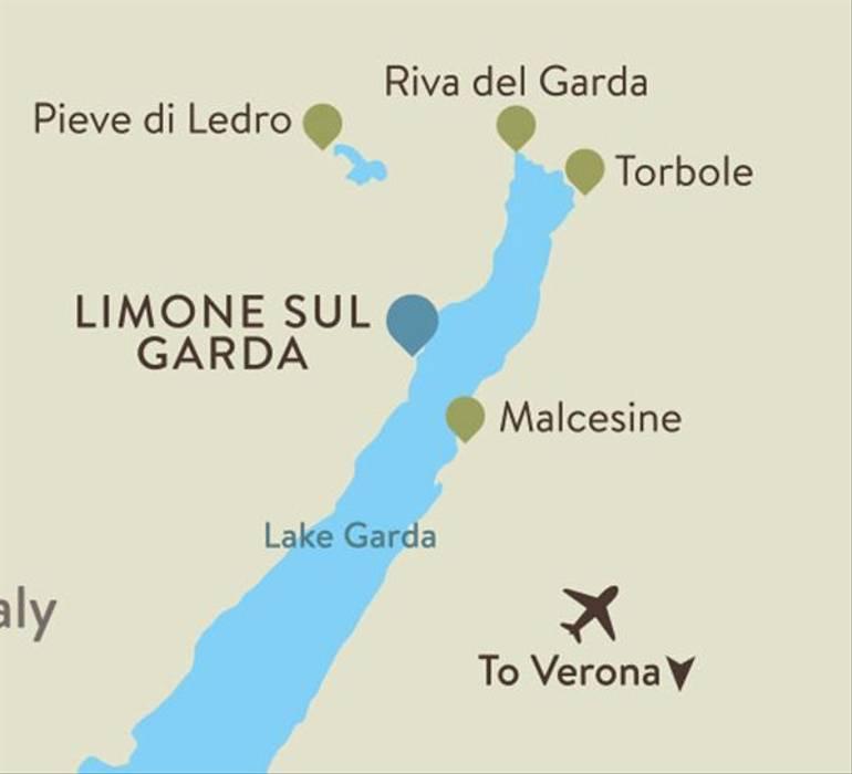 Lake Garda Itinerary Map